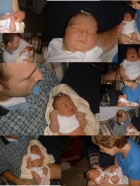 Ainsley's Birth Collage - note how she looks like a sumo (sp?) wrestler.